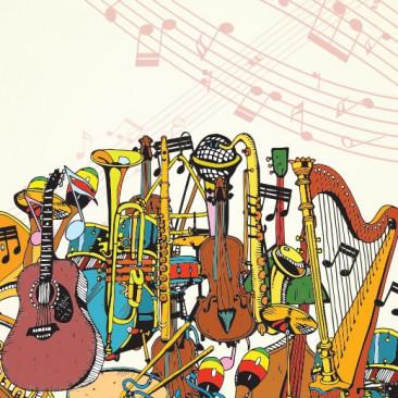 60 instrumentos musicais em inglês